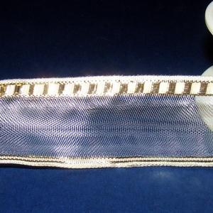 Szalag (33. minta/1 m) - fehér/arany kockás (csimbo) - Meska.hu