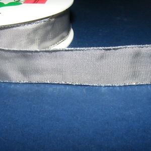 Szalag (1. minta/1 m) - szürke/ezüst lurex (csimbo) - Meska.hu