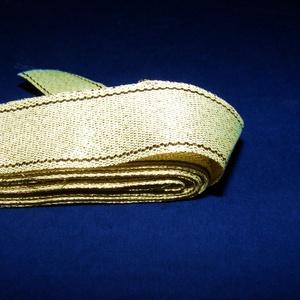 Szalag (131. minta/1 m) - arany (csimbo) - Meska.hu