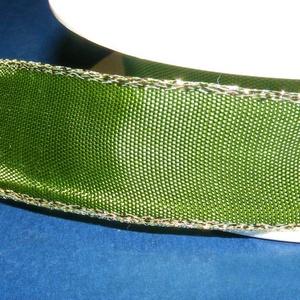 Szalag (23. minta/1 m) - zöld/arany (csimbo) - Meska.hu