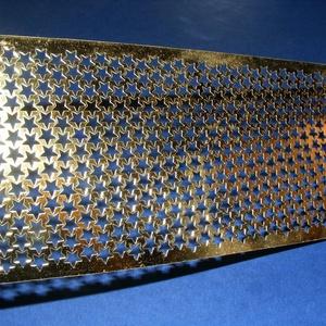 Szalag (40. minta/1 m) - metál arany csillagos (csimbo) - Meska.hu