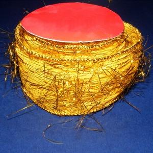 Szalag (42. minta/90 cm) - sárga/arany lurex (csimbo) - Meska.hu