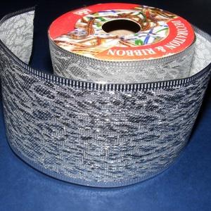 Szalag (43. minta/250 cm) - ezüst törtmintás (csimbo) - Meska.hu