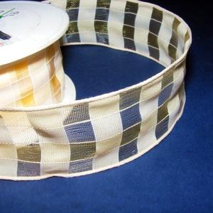 Szalag (47. minta/1 m) - sárga kockás (csimbo) - Meska.hu