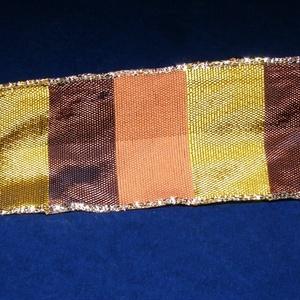 Szalag (48. minta/1 m) - kockás őszi színek (csimbo) - Meska.hu
