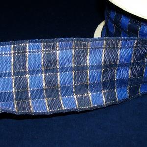 Szalag (50. minta/1 m) - kék/sötétkék kockás (csimbo) - Meska.hu