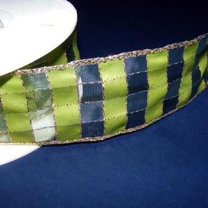 Szalag (51. minta/1 m) - zöld kockás (csimbo) - Meska.hu