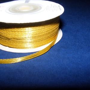 Szaténszalag (115. minta/1 m) - arany (csimbo) - Meska.hu