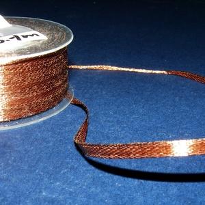 Szaténszalag (122. minta/1 m) - barna - textil - Meska.hu