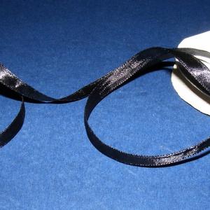 Szaténszalag (124. minta/1 m) - fekete (csimbo) - Meska.hu