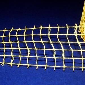 Kockás jutaszalag (1 m) - csillámos citromsárga (csimbo) - Meska.hu
