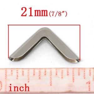 Fémsarok (1. minta/1 db) - 14x14 mm (csimbo) - Meska.hu