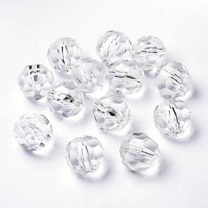 Akril gyöngy-40 (1 db) - átlátszó szögletes gömb, Gyöngy, ékszerkellék,    Akril gyöngy-40 - szögletes gömb - átlátszó   Mérete: 22 mmFurat mérete: 3 mm  Az ár 1 darab term..., Meska