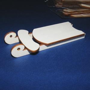 Fa szánkó (1 db) - összerakható, Fa,  Fa szánkó - összerakható    Mérete (összerakva): 5,3x11x1,1 cmAnyaga: natúr rétegelt lemez, nem p..., Meska