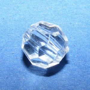 Akril gyöngy-45 (10 db) - átlátszó szögletes gömb (csimbo) - Meska.hu