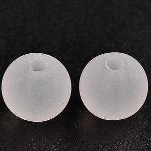 Akril gyöngy-65 (10 db) - matt fehér gömb (csimbo) - Meska.hu