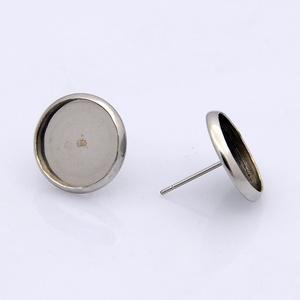 Nemesacél fülbevaló alap (STAS-40/A - 2 db) - Meska.hu