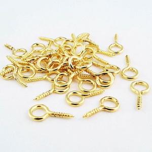 Szemes csavar (1061/G minta/20 db) - 4x10 mm, Csat, karika, zár, Mindenmás, \n\nSzemes csavar (1061/G minta) - arany színben\n\nA terméket elsősorban süthető gyurma ékszerekhez ajá..., Meska