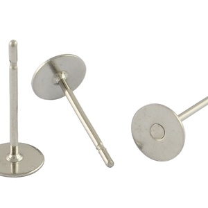 Nemesacél stiftes fülbevaló alap (STAS-20 minta/10 db) - 6x12 mm (csimbo) - Meska.hu