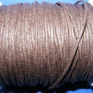 Viaszos pamutzsinór - 1,5-2 mm (ZS04. minta/1 m) - sötétbarna (csimbo) - Meska.hu