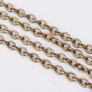 Bronz színű lánc (1/A minta/1 m) - 4x3x0,7 mm, Gyöngy, ékszerkellék, Ékszerkészítés, \nBronz színű lánc (1/A minta)\n\nA szem mérete: 4x3x0,7 mm\n\nA feltüntetett ár 1 méter láncra vonatkozi..., Meska