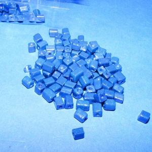 Szögletes gyöngy (20. minta/10 g) - fényes kék (csimbo) - Meska.hu