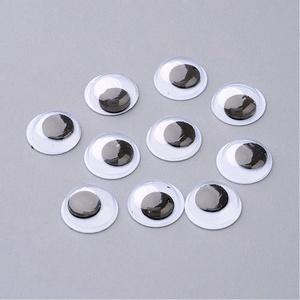 Rezgőszem (10 mm/1 db) - kerek, Figurák, Dekorációs kellékek, Mindenmás, \nRezgőszem - ragasztható - kerek\n\nMérete: 10 mm\n\nTöbbféle méretben rendelhető.Az ár egy darab termék..., Meska