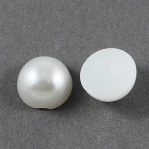 Fél teklautánzat-1 (� 10 mm/20 db) - fehér - gyöngy, ékszerkellék - Meska.hu