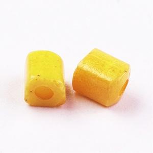 Szögletes gyöngy (4. minta/15 g) - gyöngyház sárga (csimbo) - Meska.hu