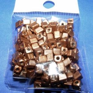 Szögletes gyöngy (14. minta/15 g) - metál bronz (csimbo) - Meska.hu