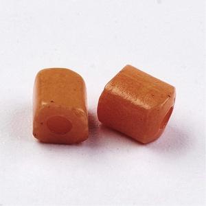 Szögletes gyöngy (23. minta/15 g) - gyöngyház karamell (csimbo) - Meska.hu