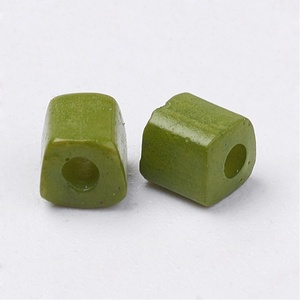 Szögletes gyöngy (38. minta/15 g) - matt khaki (csimbo) - Meska.hu