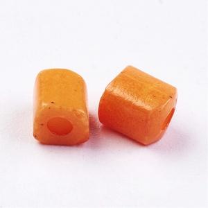Szögletes gyöngy (40. minta/15 g) - matt narancssárga (csimbo) - Meska.hu
