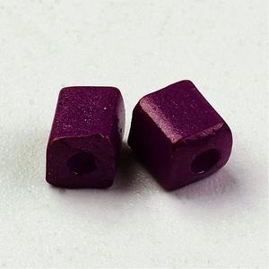 Szögletes gyöngy (41. minta/15 g) - matt padlizsánlila (csimbo) - Meska.hu