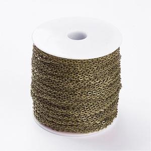 Bronz színű lánc (6. minta/1 m) - 4,1x3x0,8 mm (csimbo) - Meska.hu