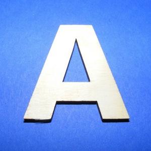 Fa betű (45x35 mm/1 db) - A, Fa,  Fa betű - A    Mérete: 45x35 mmAnyaga: natúr rétegelt lemezAnyagvastagság: 3 mm  Az ár egy darab ..., Meska