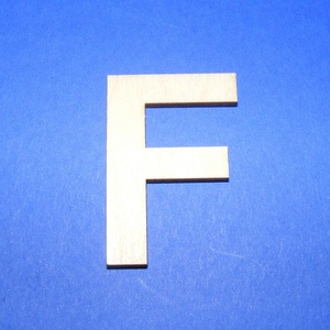 Fa betű (45x35 mm/1 db) - F, Fa,  Fa betű - F    Mérete: 45x35 mmAnyaga: natúr rétegelt lemezAnyagvastagság: 3 mm Az ár egy darab t..., Meska