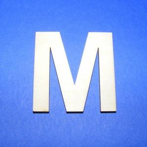 Fa betű (45x35 mm/1 db) - M, Fa,  Fa betű - M    Mérete: 45x35 mmAnyaga: natúr rétegelt lemezAnyagvastagság: 3 mm Az ár egy darab t..., Meska
