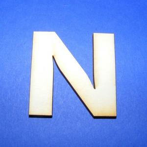 Fa betű (45x35 mm/1 db) - N, Fa,  Fa betű - N    Mérete: 45x35 mmAnyaga: natúr rétegelt lemezAnyagvastagság: 3 mm Az ár egy darab t..., Meska