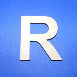 Fa betű (45x35 mm/1 db) - R, Fa,  Fa betű - R    Mérete: 45x35 mmAnyaga: natúr rétegelt lemezAnyagvastagság: 3 mm Az ár egy darab t..., Meska