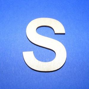 Fa betű (45x35 mm/1 db) - S, Fa,  Fa betű - S    Mérete: 45x35 mmAnyaga: natúr rétegelt lemezAnyagvastagság: 3 mm Az ár egy darab t..., Meska