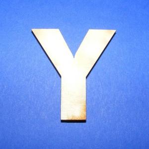 Fa betű (45x35 mm/1 db) - Y, Fa,  Fa betű - Y    Mérete: 45x35 mmAnyaga: natúr rétegelt lemezAnyagvastagság: 3 mm Az ár egy darab t..., Meska