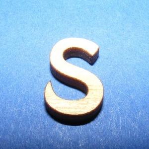 Rusztikus fa betű (15x10 mm/1 db) - S, Fa,  Rusztikus fa betű - S    Mérete: 15x10 mmAnyaga: rétegelt lemezAnyagvastagság: 3 mm Az ár egy ter..., Meska