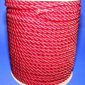 Sodrott zsinór - 5 mm (ZS53S/1 m) - skarlátpiros (csimbo) - Meska.hu