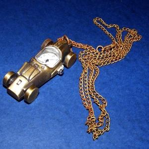 Ékszeróra (autó) - láncos, Órakészítés, Mindenmás, \nÉkszeróra - autó - láncos - antik bronz színben\n\nAz óra üzemképes, elemmel ellátott.\n\nMérete: 57x23..., Meska