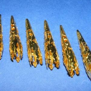 Gyöngykupak (39. minta/2 db) - 40 mm - gyöngy, ékszerkellék - egyéb alkatrész - Meska.hu