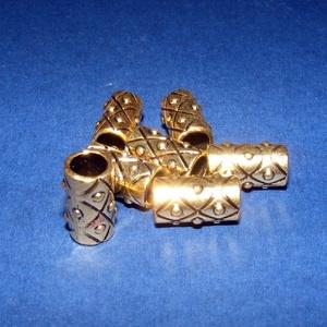 Cső-16/A (17x10 mm/1 db) , Gyöngy, ékszerkellék,  Cső-16/A - arany színben  Mérete: 17x10 mm (belül: 7 mm)  Az ár egy darab termékre vonatkozik.  ..., Meska