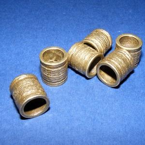 Cső-17/B (14x13 mm/1 db), Gyöngy, ékszerkellék,  Cső-17/E - antik bronz színben  Mérete: 14x13 mm (belül: 10 mm)  Az ár egy darab termékre vonatkozi..., Meska