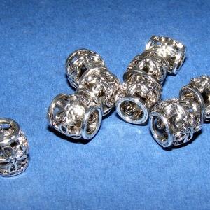 Cső-19/E (10x10 mm/1 db), Gyöngy, ékszerkellék,  Cső-19/E - antik ezüst színben  Mérete: 10x10 mm (belül: 6 mm)  Az ár egy darab termékre vonatkozik..., Meska
