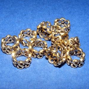 Cső-21/A (10x7 mm/1 db), Gyöngy, ékszerkellék,  Cső-21/A - antik arany színben  Mérete: 10x7 mm (belül: 8 mm)Furat: 8 mm  Az ár egy darab termékre ..., Meska